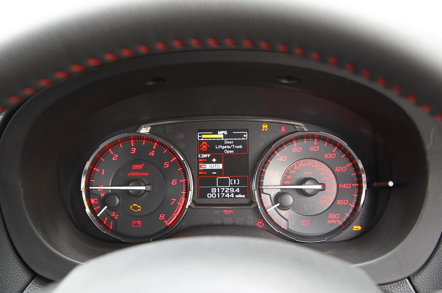 Subaru Impreza WRX STI instrument cluster