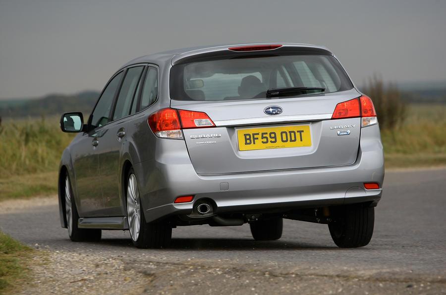 Subaru Legacy rear cornering