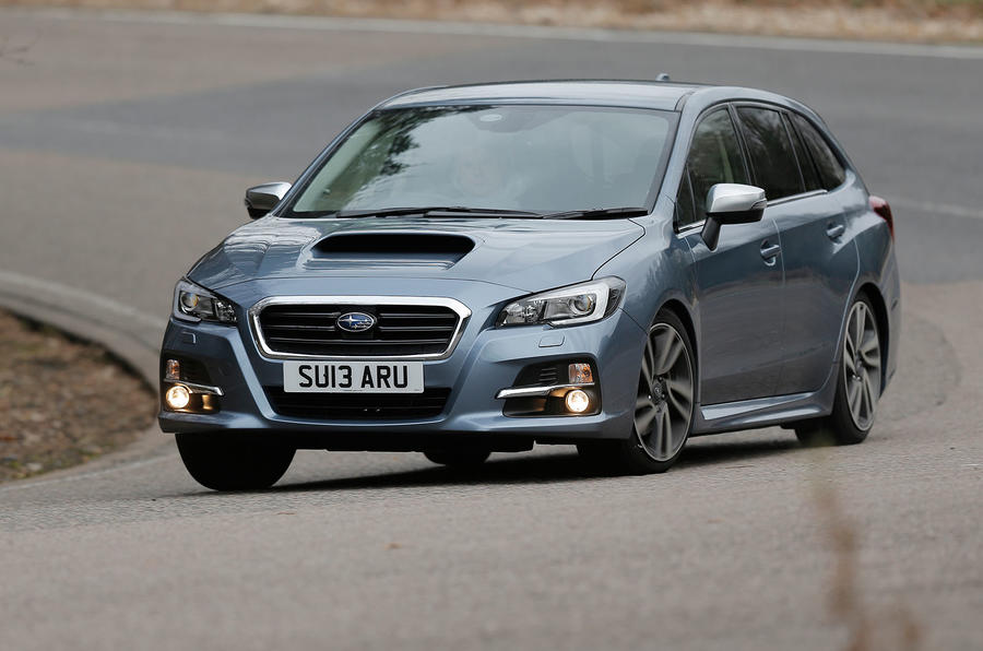 The Subaru Levorg's ride can be brittle at times...