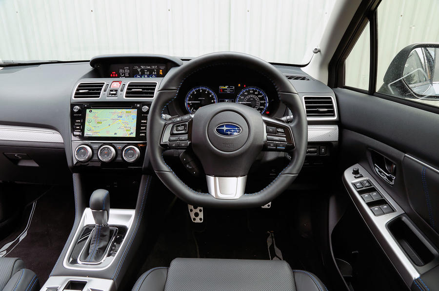 The view from the driver's seat of the Subaru Levorg