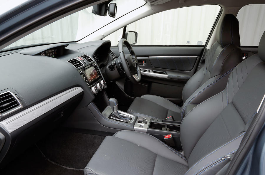 Inside the cabin of the Subaru Levorg