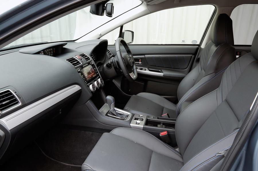 Inside the cabin of the Subaru Levorg