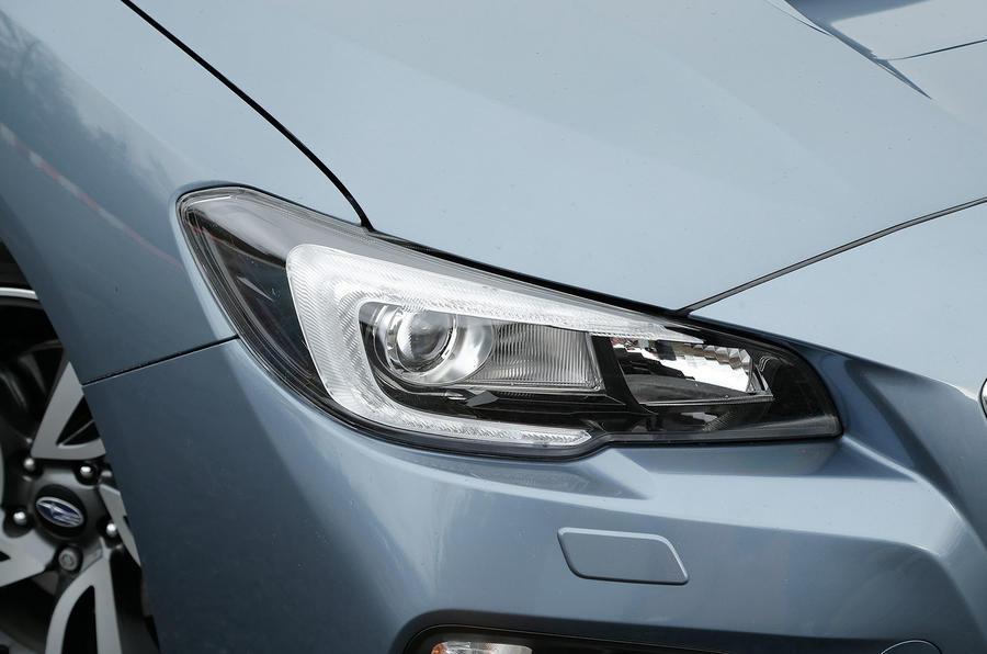 The Subaru Levorg's hawkeye headlights are LED units are standard