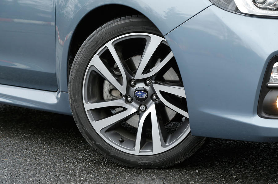 The Subaru Levorg comes with daimond cut alloys
