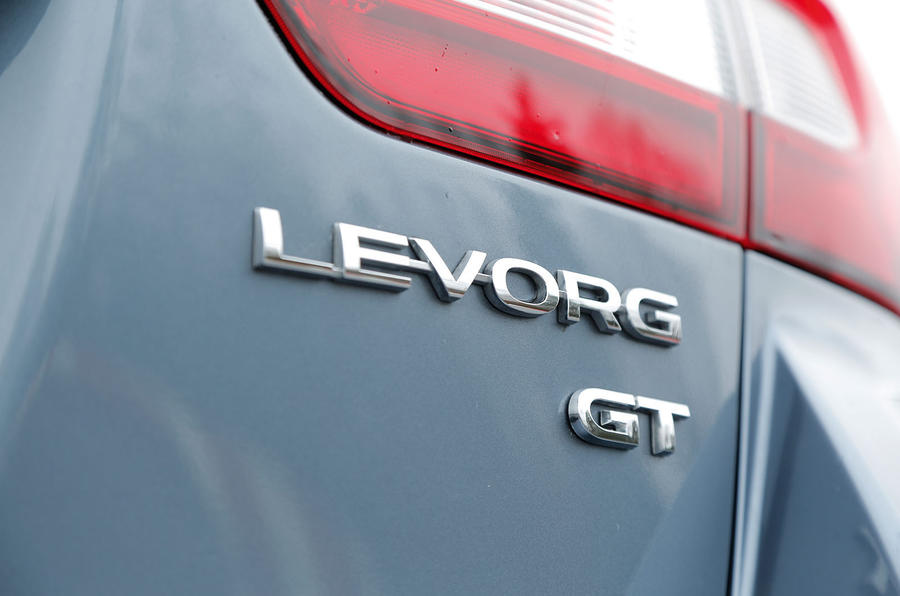 The only trim level available on the Subaru Levorg is also described on the tailgate