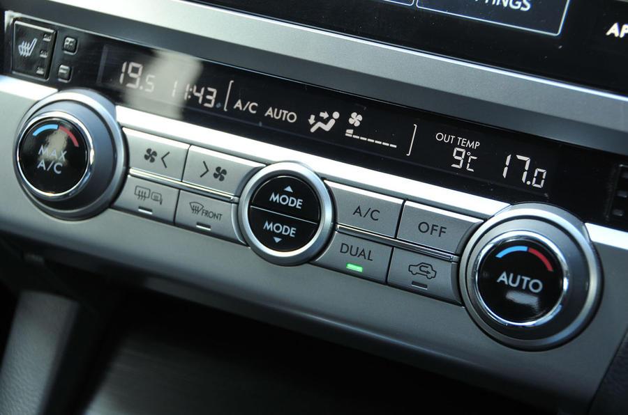 Subaru Outback climate controls