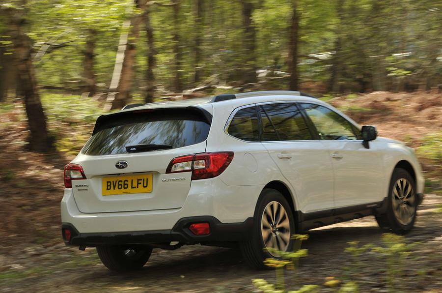 Subaru Outback off-roading rear