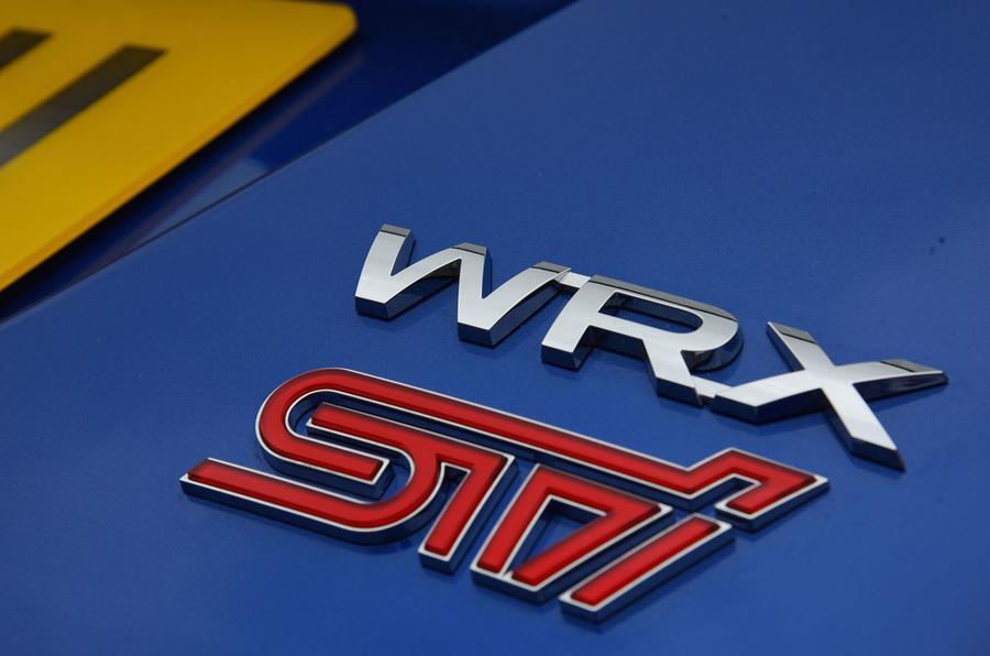 Subaru WRX STI badging