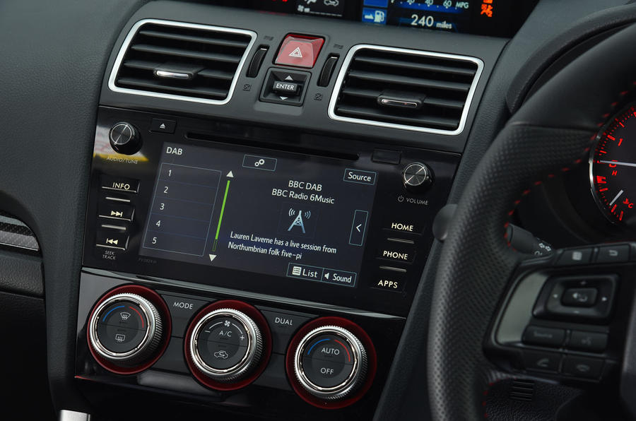 Subaru WRX STI infotainment system