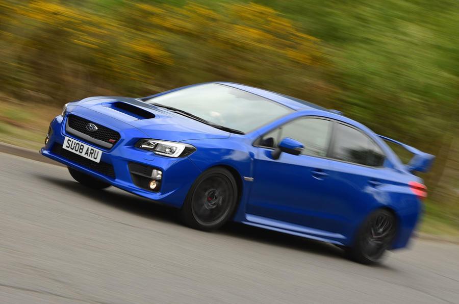 Subaru WRX STI cornering