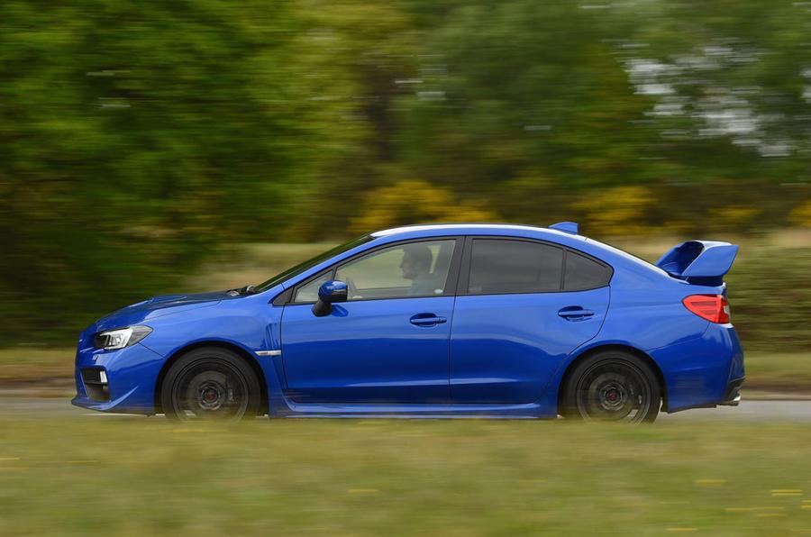 Subaru WRX STI side profile