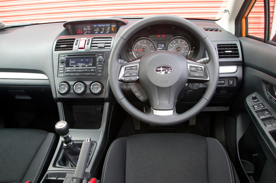 Subaru XV dashboard