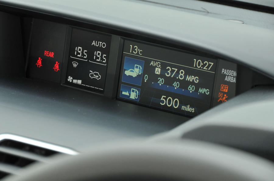 Subaru XV information display