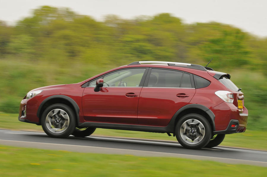 Subaru XV on the road