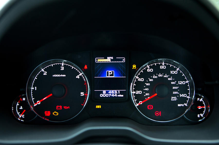 Subaru Outback instrument cluster