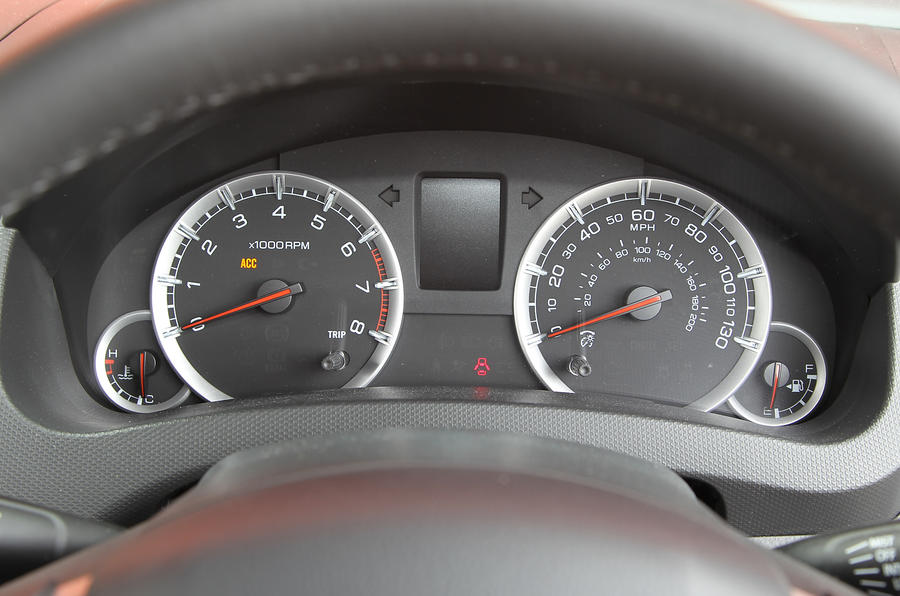 Suzuki Swift instrument cluster
