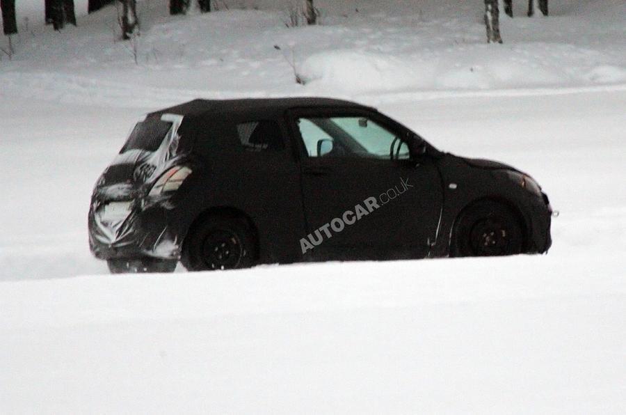 New Suzuki Swift spied