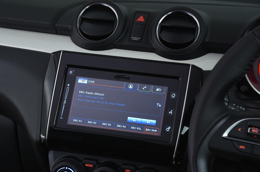 Suzuki Swift infotainment system