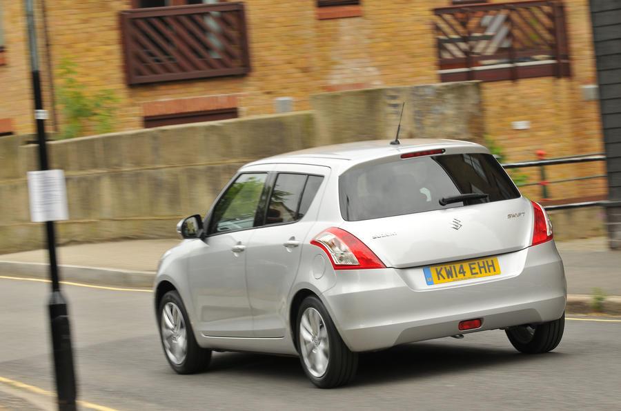 Suzuki Swift rear cornering