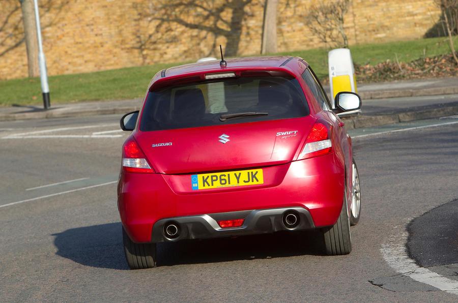 Suzuki Swift Sport rear cornering