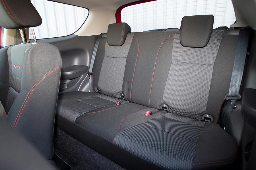 Suzuki Swift Sport rear seats
