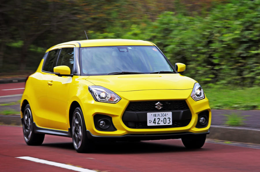 Suzuji Swift Sport Japan-spec review hero front