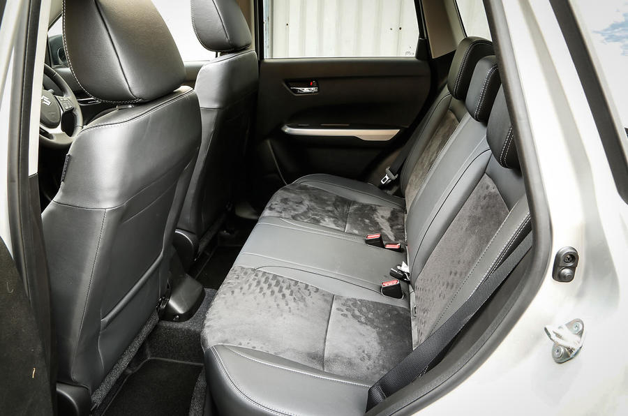 The rear seats in the Suzuki Vitara