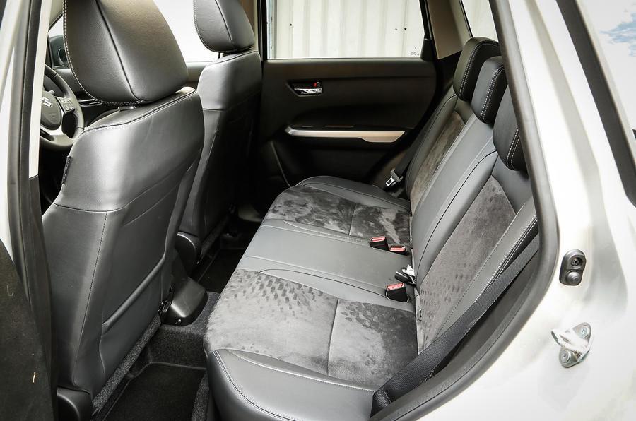 The rear seats in the Suzuki Vitara