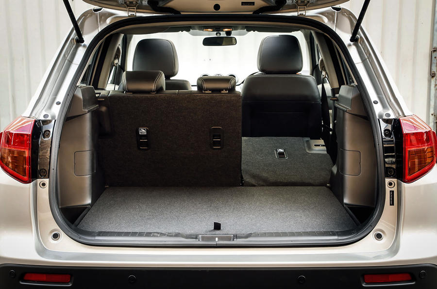 A view of the flexibility of the Suzuki Vitara's seating and its spacious boot