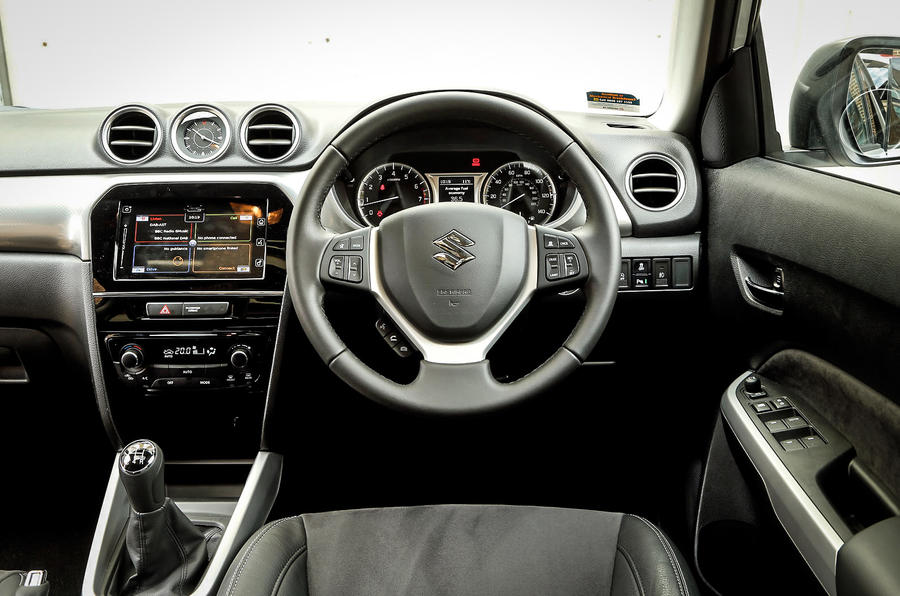 The view from the driver's seat in the Suzuki Vitara