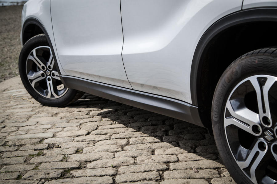 The mid-spec Suzuki Vitara comes with 17in alloys, with polished versions saved for the top-spec models