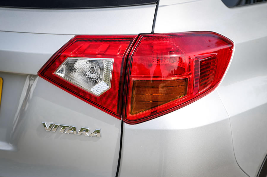 The Suzuki Vitara's rear light cluster