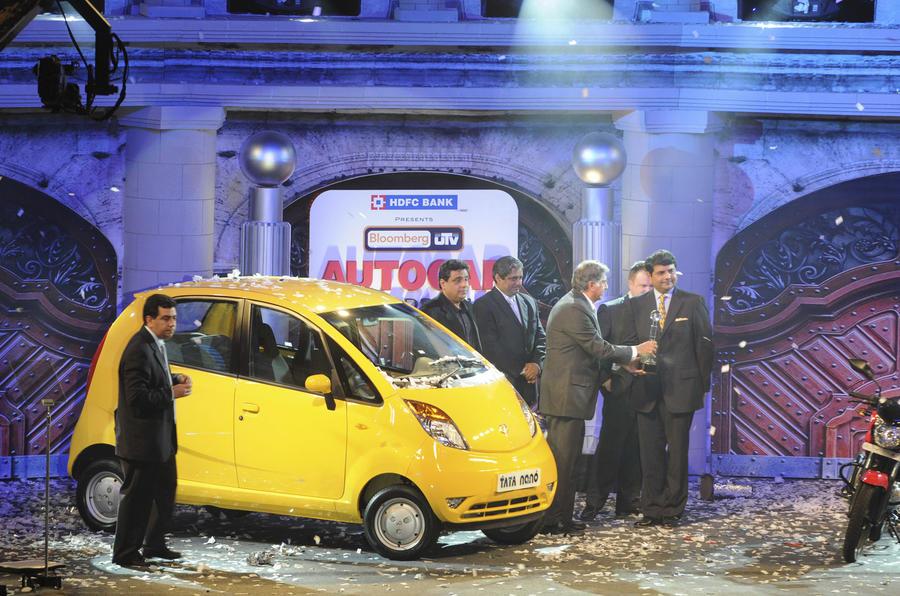 Tata Nano's Autocar India award