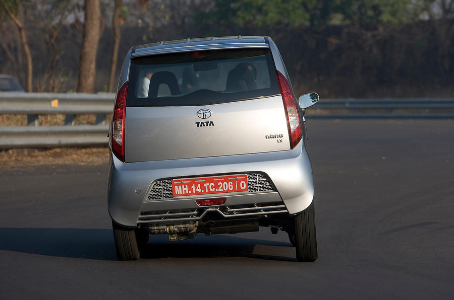 Tata Nano rear cornering