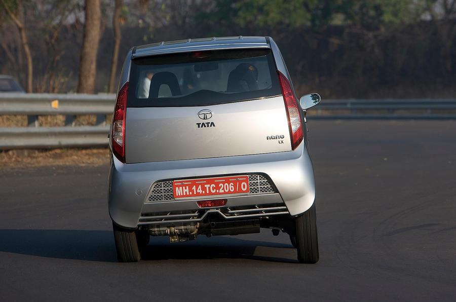 Tata Nano rear cornering
