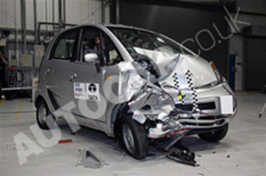 Tata Nano crash test on video