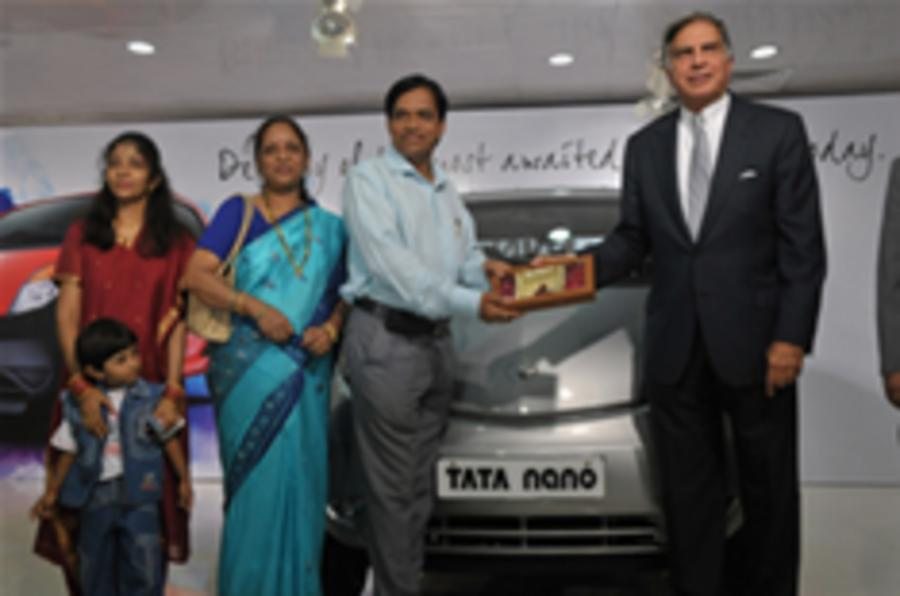 Update: First Tata Nano delivery