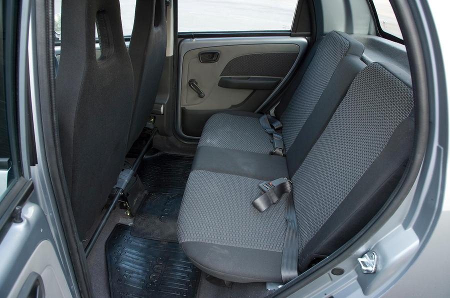 Tata Nano rear seats