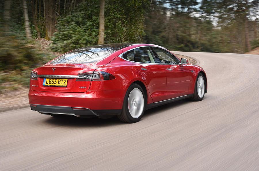 Tesla Model S P90D rear