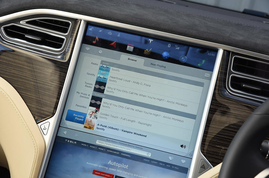 Spotify in the Tesla Model S