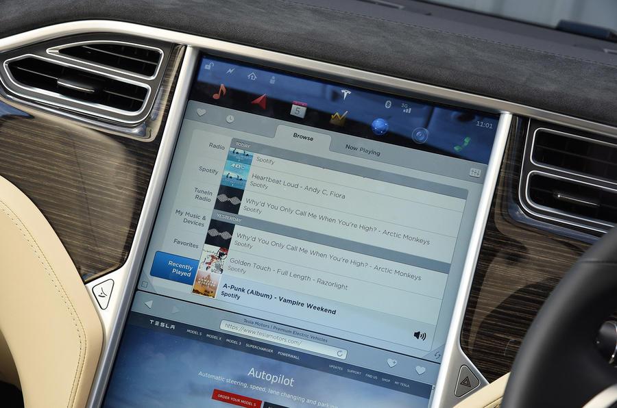 Spotify in the Tesla Model S