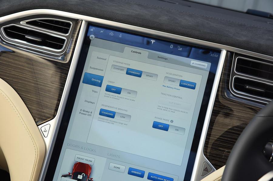 Tesla Model S driving modes