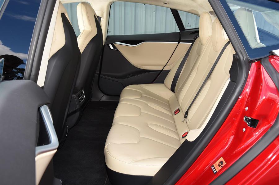 Tesla Model S P90D rear seats