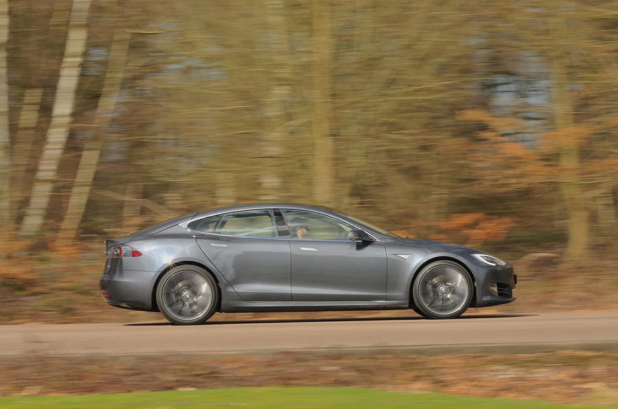 Tesla Model S 95d side profile