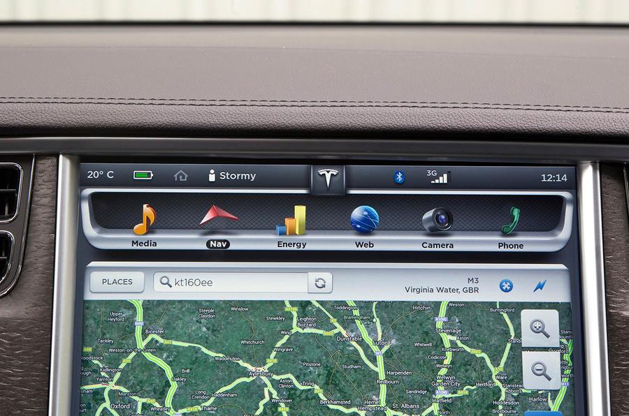 Tesla Model S infotainment system