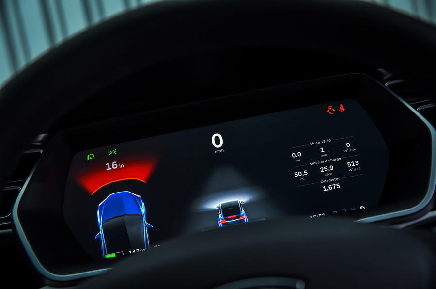 Tesla Model X assist info panel