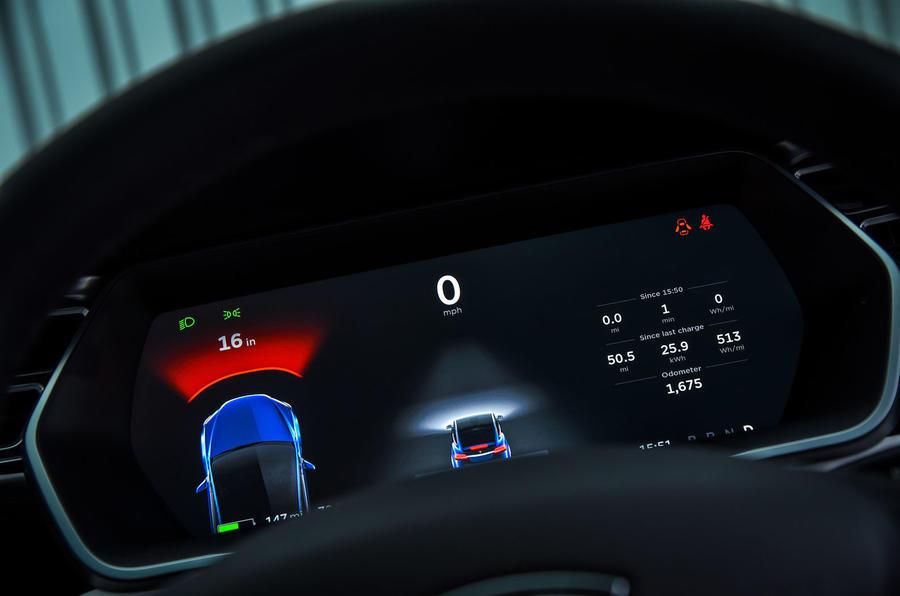 Tesla Model X assist info panel