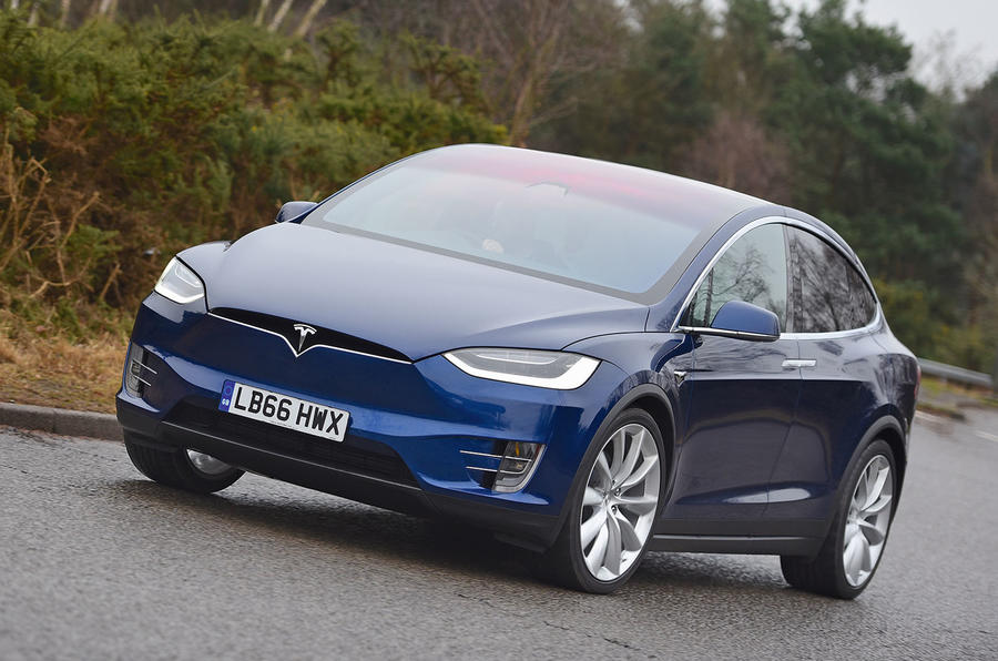 Tesla Model X cornering