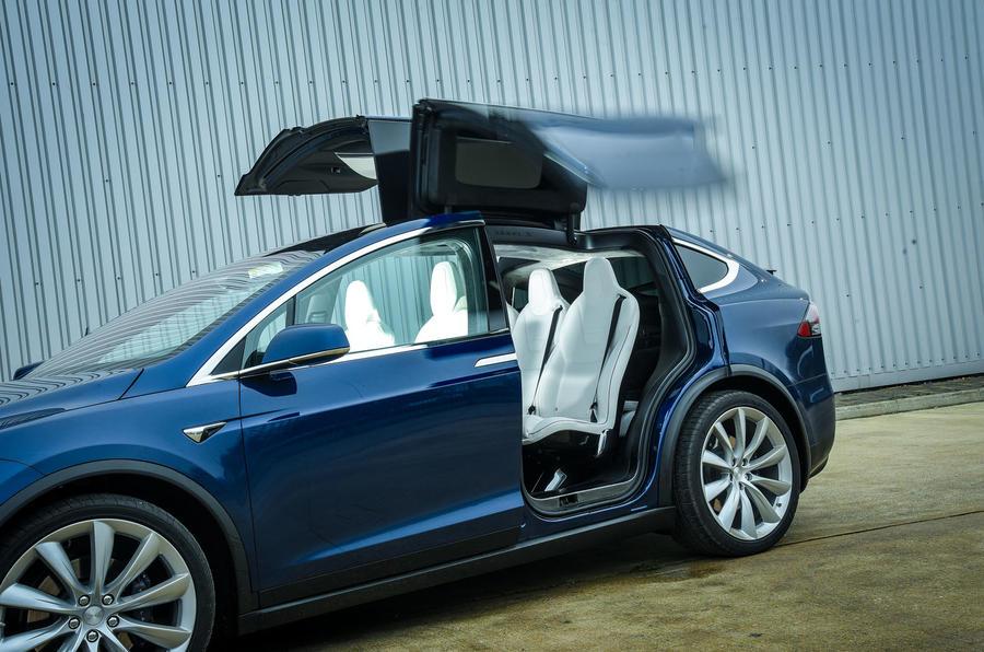 Tesla Model X Falcon doors opened