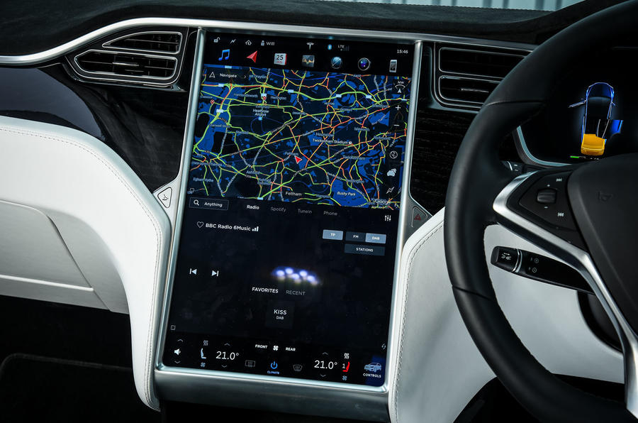 Tesla Model X infotainment system